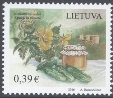 LITHUANIA, 2016, MNH , CUCUMBERS, 1v - Food