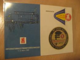 FRANKFURT 1959 Messe Fair 2 Poster Stamp Label Vignette On Drucksache Blue Post Card GERMANY Music - Music