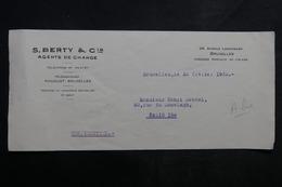 VIEUX PAPIERS - Courrier D'un Agent De Change De Bruxelles Pour Paris En 1932 - L 33681 - Lettres De Change