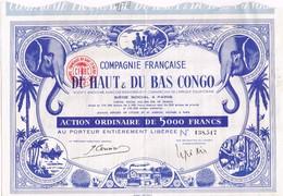 Titre Ancien - Compagnie Française Du Haut & Du Bas Congo - Titre Déco - Afrika
