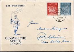 Postal History: Germany / DDR Stamps On Cover - Summer 1956: Melbourne