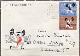Postal History: Germany / DDR Stamps On Cover - Weightlifting