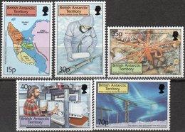 British Antarctic Territory 1999 Scott 280-284 MNH Survey Discoveries, Map - Territorio Antartico Britannico  (BAT)