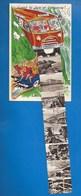14 - LUC-SUR-MER -  - CARTE SYSTÈME - DÉPLIANT- TOURISTES EN AUTOCAR ET EN VOITURE - ... - GABY 162 - 3 SCANS - Dreh- Und Zugkarten