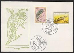 FDC/Année 1993-N°1052/1053 : Les Reptiles - Lézards - Algeria (1962-...)