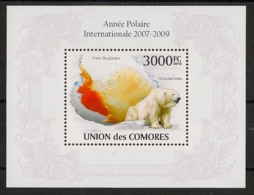 Comores - 2009 - Bloc BF N°Yv. 250 - Ours Polaire - Neuf Luxe ** / MNH / Postfrisch - Cote YT 21€ - Bears