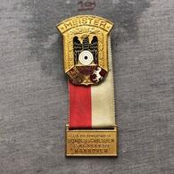 Badge Pin ZN008450 - Shooting Weapons Germany Deutscher Schützenbund Bundesschiessen Hannover 1955 Meister - Badges