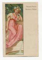 ART NOUVEAU- FEMME- PUBLICITE BISCUITS NANTAIS DUCASSE ET GUIBAL - Illustratori & Fotografie