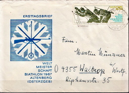 Postal History: Germany / DDR Stamp On Cover - Shooting (Weapons)