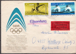 Postal History: Germany / DDR Stamps On Cover - Summer 1972: Munich