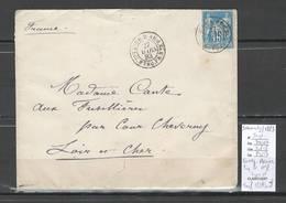 France -Lettre Correspondance D'Armées -Paq Fr No 8 -  1883 - Ligne N - Paquebot Irraouady - - Postmark Collection (Covers)