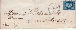 MARQUE POSTALE LAC 79 FONTENAY LE COMTE 18 MARS 18 MARS 1859 - Marcofilia (sobres)