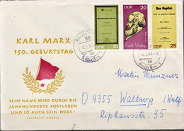 Postal History: Germany / DDR Stripe On Cover - Covers & Documents