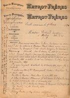 VP15.345 - 2 Lettres - Affaire Mr PARIS Ouvrier à La Verrerie Du BOUSQUET D' ORB & CARMAUX Contre MATROT Frères à EVELLE - Old Paper