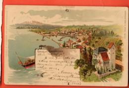 PEPA-31 Gruss Aus Romanshorn Thurgau Litho Nagelloch !  Linear Stempel Romanshorn, Gelaufen 1902 - TG Thurgovie