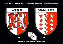 "Wappen Postkarte Coat Of Arms Aufkleber ""Blason Adhésif"" Ecussons Autocollants VISP + WALLIS (CH) (Schweiz) - VS Valais"