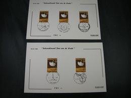"""BELG.1986 2202 FDC Filami Cards   : """" Jaar V/d Vrede / Année Internationale De La Paix """" - 1981-90"""