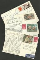 Lot 4 Cartes >>> Avion U.S.A. & SUISSE - France