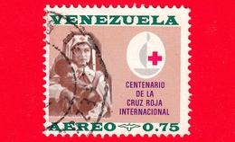 VENEZUELA - Usato - 1963 - Centenario Della Croce Rossa - Infermiera - 0.75 P.aerea - Venezuela