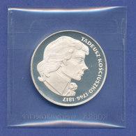 Polen Silbermünze 1976 Tadeusz Kosciuszko 100Zloty PP - Polen