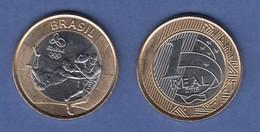 Brasilien / Brasil Olympische Spiele Rio 2016  1 Real Rugby - Münzen