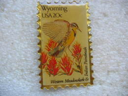 Pin's Timbre USA De 20cts. Wyoming. Indien Paintbruch - Mail Services