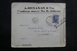 GRECE - Enveloppe De Athènes Pour La France Avec Contrôle Postal - L 33710 - Grecia
