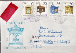Postal History: Germany / DDR Cover With Full Set - Post