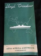 Dépliant De 1937 Lloyd Triestino Itineraries Asia Africa Australia Itinéraires De Navigation   KXb - Dépliants Turistici