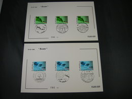 "BELG.1986 2211 & 2212  FDC Filatemi Cards : "" Europa 1986 "" - Maximum Cards"