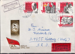 Postal History: Germany / DDR Cover With Full Set - Karl Marx