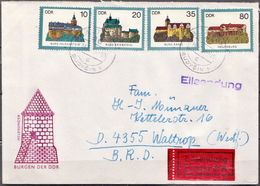 Postal History: Germany / DDR Cover With Full Set - Castles
