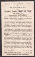 Vlamertinge, Nieuwkerke, 1939, Cyriel Bossaert,Bruneel - Imágenes Religiosas