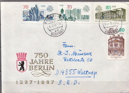 Postal History: Germany / DDR Cover With Full Set And SS - Monuments