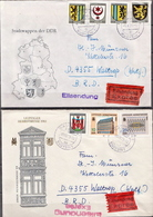 Postal History: Germany / DDR Full Set On 2 Covers - Covers