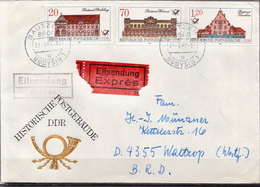 Postal History: Germany / DDR Stamps On Cover - Post