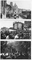 16 ANGOULEME - PHOTO ORIGINALE - 3 Cartes Photos Congrès Eucharistique 1939 Départ Retour De Procession Fin De Cerémonie - Other Municipalities