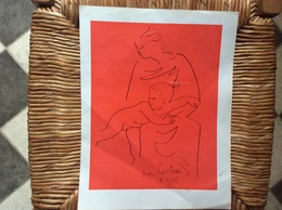 AFFICHETTE  Jean Cocteau   REPRODUCTION 1932 - Manifesti