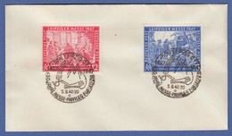 Leipziger Messe 1947 Mi.-Nr. 965-66 Auf Umschlag Mit Sonder-O LEIPZIG 7.9.47 - Gemeinschaftsausgaben