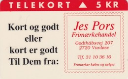 Denmark, KP 004, Jes Pors Stamp Dealer (red), Mint, Only 3.500 Issued, 2 Scans - Denmark