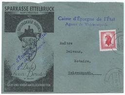 Ettelbruck - Briefstück Sparkasse Nach Weiswampach 15-09-1945 - Briefe U. Dokumente