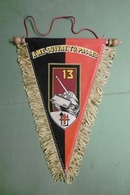 """Fanion Militaire 13° Régiment De Génie """"A Me Suivre Tu Passes"""" TREVES REPUBLIQUE FEDERALE D'ALLEMAGNE TRIER - Militaria"""
