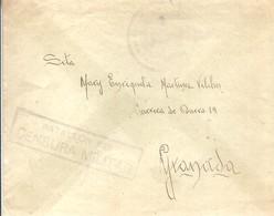 CORRESPONDENCIA MILITAR 1939  CENSURA RARA  BATALLON 230   GRANADA - Marcas De Censura Nacional