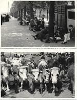 16 ANGOULEME - PHOTO ORIGINALE - 2 Cartes Photos Animées La Foire Du 15 En 1946 Boulevard Thiers Place Du Champ De Mars - Other Municipalities