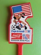 222 - Touilleur - Agitateur - Mélangeur à Boisson - Coca Cola - Coupe Du Monde USA 1994 - Drapeau Américain - Getränkemischer