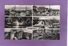 44 NANTES  Pont à Transbordeur Bourse Jardin Des Plantes Quartier St Pierre St Clément Le Chateau Place Royale Multivues - Nantes