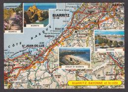 91359/ FRANCE, 64 Pyrénées-Atlantiques, Côte Basque, D'après Michelin N° 85 - Carte Geografiche