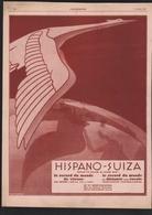 Pub 1927 Automobile HISPANO SUIZA Voiture Tacot Traction Automobiles Embleme Cigogne Bois Colombes - Publicités
