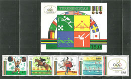 Turkmenia. 1992. Sport. Olympic Games. Barcelona 92 - Summer 1992: Barcelona