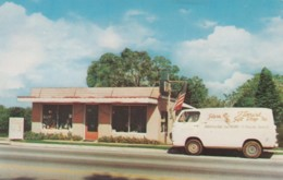 Pensacola Florida, Glass Florist & Gift Shoppe, Small Business Delivery Van, C1960s Vintage Postcard - Pensacola